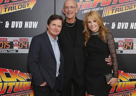 A Marty McFlyt alakító Michael J. Fox és maga Brown doki, azaz Christoper Lloyd is jelen volt a vetítésen.