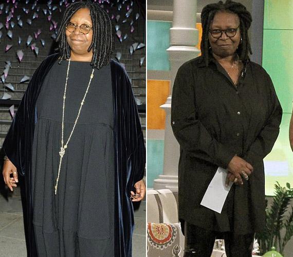 Whoopi Goldberg 16 kilótól szabadult meg, de mint mondta a műsorban, tovább folytatja a diétát. A lassú, egészséges fogyás híve, éppen ezért nem hajlandó durván sanyargatni a testét.