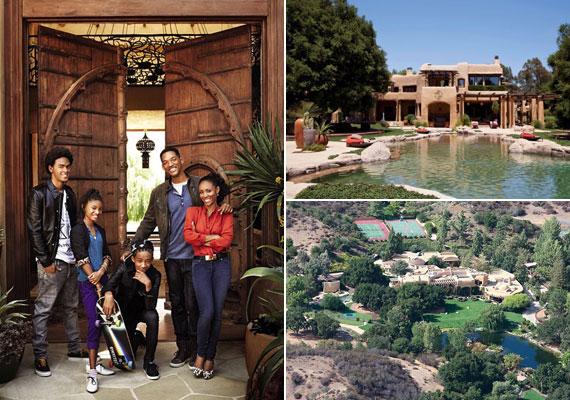 Will Smith és Jada Pinkett-Smith 2011 nyarán beengedte otthonába az Architectural Digest fotósát, aki exkluzív felvételeket készíthetett a luxuslakról.