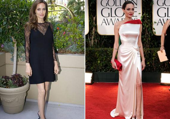 Angelina Jolie az utóbbi időben ismét sokat leadott, pedig sokkal jobban néz ki, ha egy picit többet mutat a mérleg alatta.