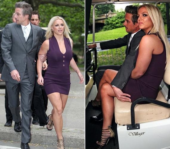 Jason Trawick, aki inkább tűnt a testőrének, mint a vőlegényének, nem annyira örült a ruhaváltásnak, próbálta óvni Britney-t a túlságosan is kíváncsi tekintetektől.