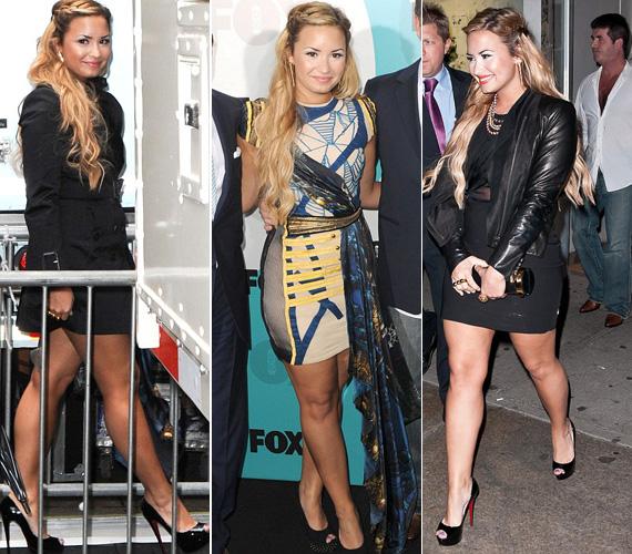 Talán azért döntött így, mert a nála egy tízessel fiatalabb Demi Lovato is lecserélte fekete ruháját egy színesebb, különlegesebb darabra.