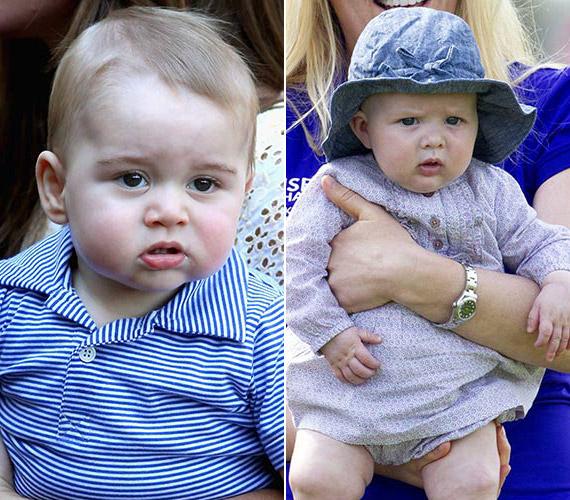 György herceg és Mia nagyon hasonlítanak egymásra.