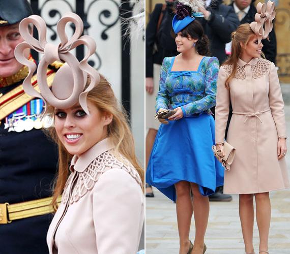 Beatrice hercegnő legemlékezetesebb kalapja, amit Vilmos és Katalin esküvőjére vett fel. Szerencsére Zara Phillipsnek jobb az ízlése.