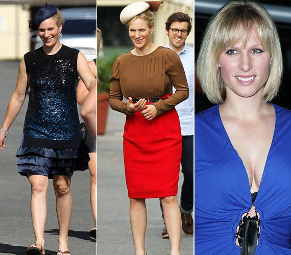 Olykor azért Zara Phillips is mellényúl, már ami a ruhaválasztást illeti.